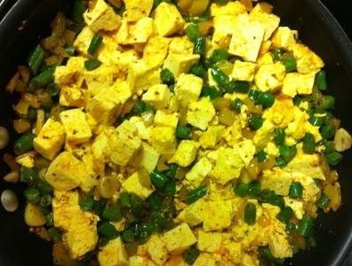 big shot of tofu