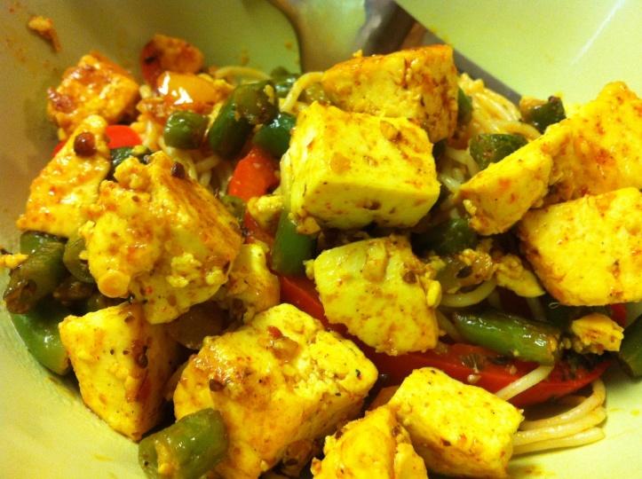 perilous tofu and beans