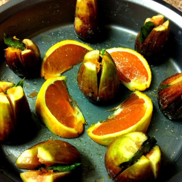 figs in the oven