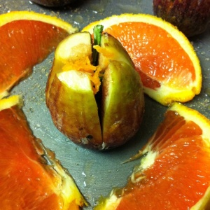 quartered fig