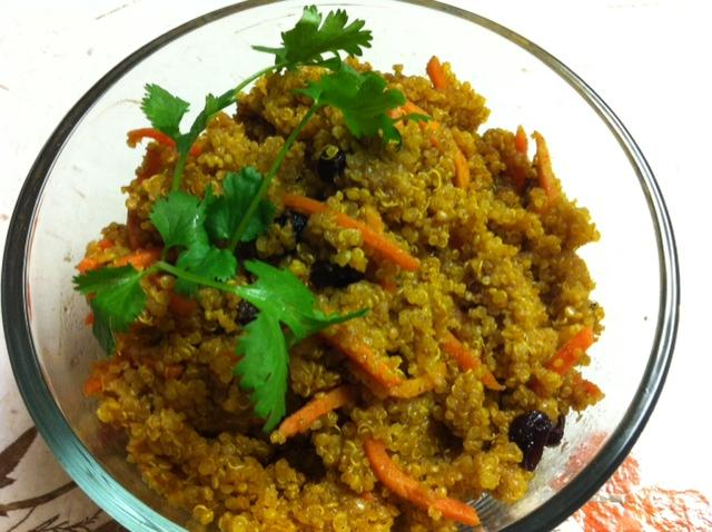 moroccan couscous (quinoa here)
