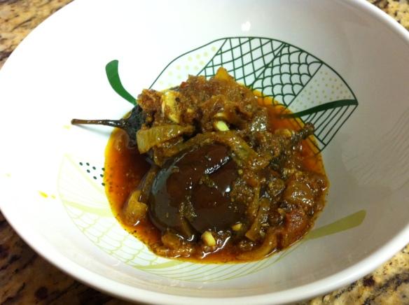 achari eggplant